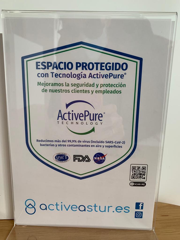 Más seguridad contra el COVID19 con el nuevo ActivePure.Bousoño Vargas, tu clínica dental en Oviedo.